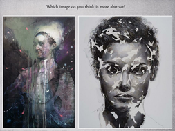 abstract portraits by chriselkin teaching resources tes