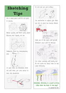 Sketching Tips Bookmark