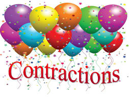 Contractions - phrases ending  not and will