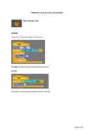 Platformer using minimal code (Scratch)