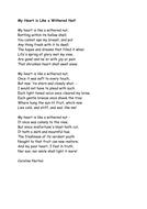 Unseen Poem Homework Sheet