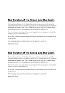 The Parable of the Sheep and the Goats.doc