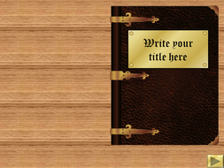 Leather Bound Book Template.ppt