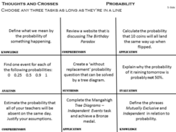 Differentiation tool - Thoughts and Crosses