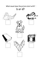b or d worksheet