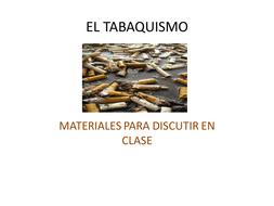 El Tabaquismo