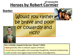 Introduction to Heroes by Robert Cormier - context