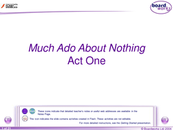 Much Ado About Nothing - Act One revision.ppt