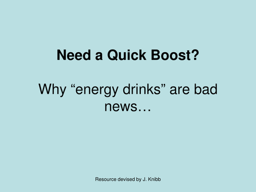 Energy Drinks School Assembly