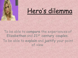Much Ado About Nothing: Hero's Dilemma Lesson