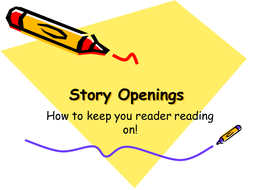 writing a story opening