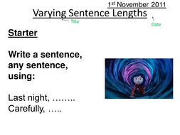 Coraline Varying Sentence Lengths Lesson