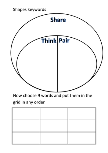 Printables Think Pair Share Worksheet worksheet think pair share kerriwaller printables kagan shape bingo activity by labrown20 shapes sheet