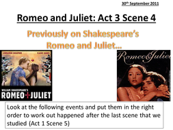 romeo and juliet act scene by hetherlouise teaching romeo and juliet act 3 pptx