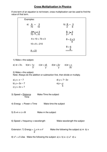 Rearranging Equations By Hopephilippa Teaching Resources