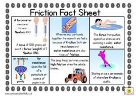 Friction Double Sided Fact Sheet By Bevevans22 Teaching