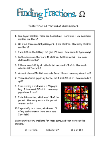 Fractions Of Amounts Including Real Life By Duncant01 Teaching