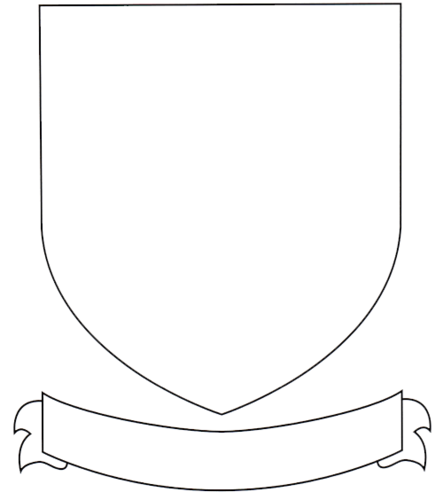 Universal image in coat of arms template printable free