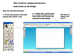 2D design Tutorial 'Ginger bread man'
