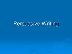 Persuasive Writing - persuading to buy