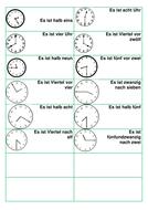 Time dominoes - German
