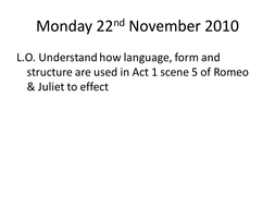 Iambic Pentameter and Sonnet Act 1 Scene 5 R&J