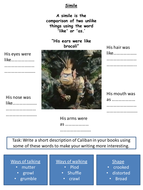 The Tempest: Literacy Worksheet on Caliban