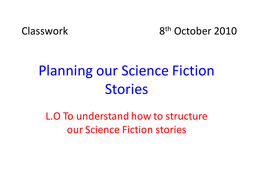 Science Fiction and Fantasy Lesson 14