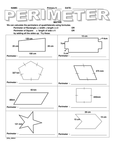 KS2 Perimeter of Different Shapes by jinkydabon - Teaching ...