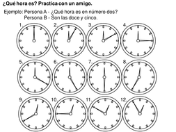 Telling the time practice activity