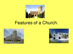 features of a church.