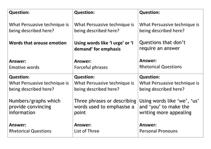 Printables Persuasive Techniques Worksheet persuasive techniques worksheet plustheapp qqt cards for by missrathor uk teaching