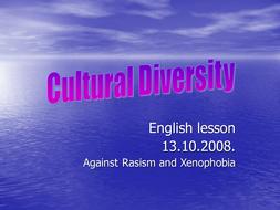 Culture Diversity - Comple Set of lesson plan, etc