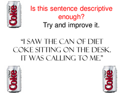 I saw the can of Diet Coke.ppt