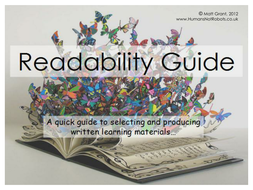 Readability Guide - Dyslexia/Reading Difficulties