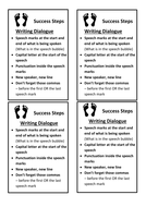 Success Steps flashcards for writing Dialogue