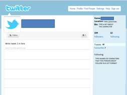 blank twitter profile template - twitter feed template by mariapasqualina teaching