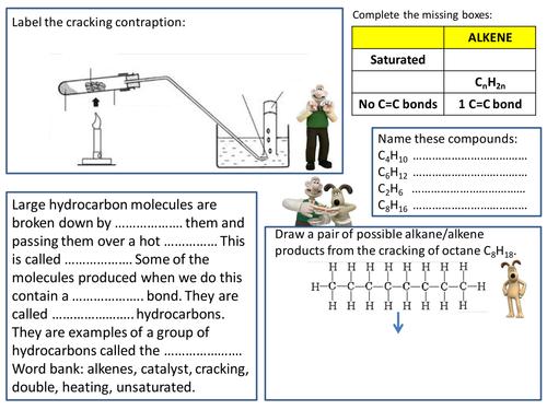 Cracking Hydrocarbons by gerwynb Teaching Resources Tes – Hydrocarbons Worksheet