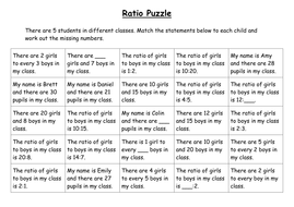 Ratio puzzle by ryansmailes teaching resources tes ratio puzzle ibookread Read Online