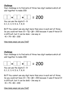 Addition - to multiples of 100