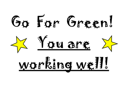 Go For Green Behaviour Management Chart by 53566324