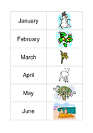 Months and seasons matching activity