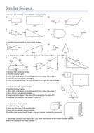 Similar Shapes. Worksheet by Tristanjones - Teaching Resources - Tes