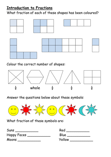 Fractions Introduction Lesson by whidds - Teaching Resources - TES