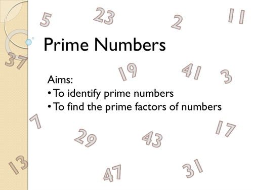 Prime Numbers Lesson by fionajones88 - Teaching Resources - TES
