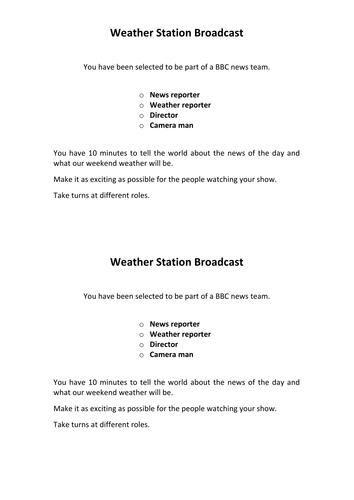 News & Weather Report Script Writing