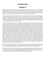 chapter five frankenstein
