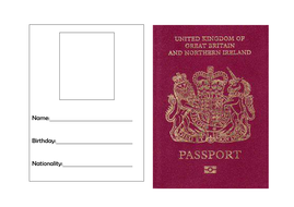 Passport Template by torstout - Teaching Resources - Tes