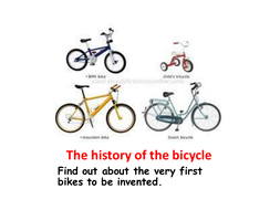 Bicycles A Simple Powerpoint About Early Bikes By Maxineshepherd