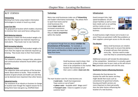 Chapter Nine - Locating the Business.doc